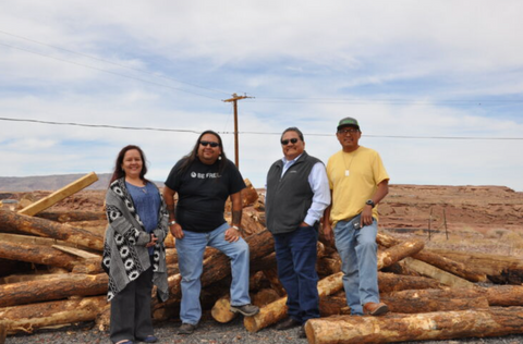 Cameron Chapter House Tribal Leaders Accepting Fuelwood Supplies