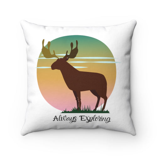 Explorers Horizon Polyester Square Pillow