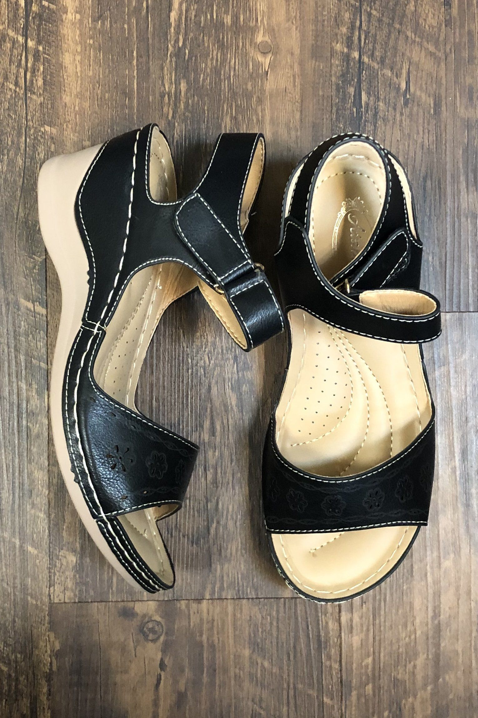 Black Wedge SHOES K.Lane's Boutique