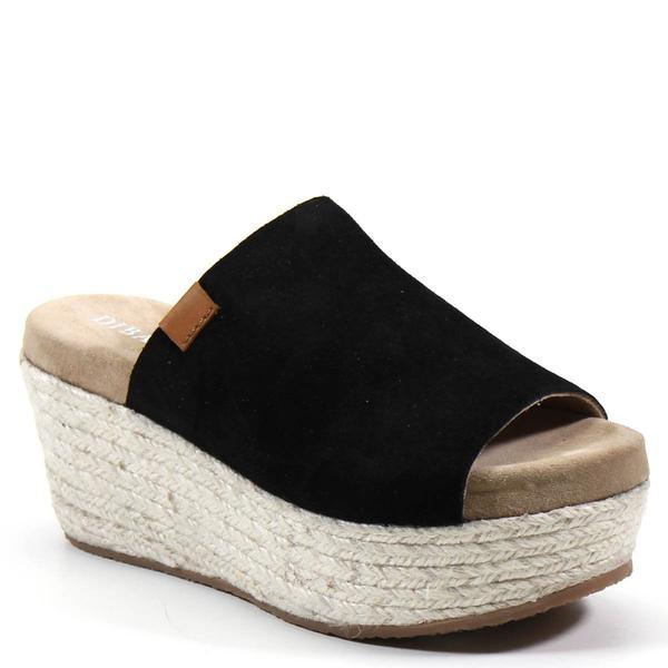 Wedge Black Sandal SHOES DIBA TRUE