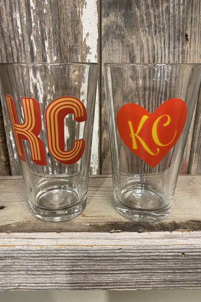 Tall KC Glass Set