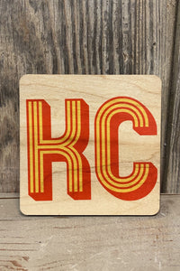 KC Red and Yellow Coaster