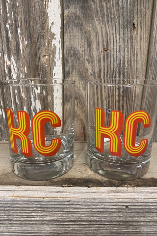 KC Retro Whiskey Glass Set