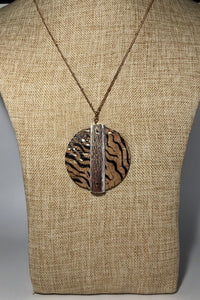 Cork Necklace Tiger
