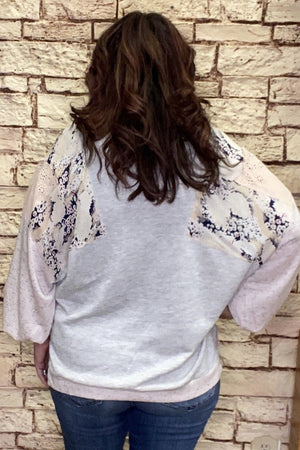 Patchwork Oversized Top JRTOP CASUAL TOP K.Lane's Boutique