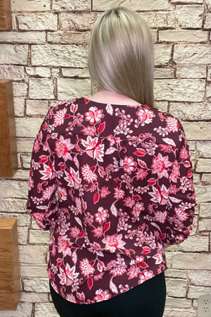 Floral Banded Blouse MISSY TOP SPECIAL ZAC & RACHEL