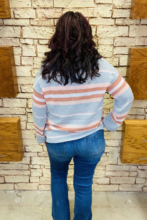 Multi-Striped Lightweight Sweater