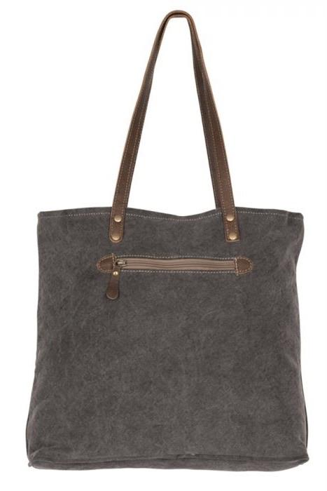 Brown Canvas Tote Bag HANDBAGS MYRABAG