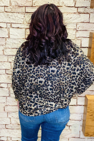 Dolman Animal Print Top