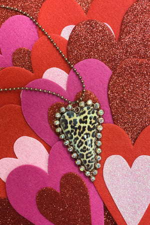 Heart Ball Chain JEWELRY K.Lane's Boutique BLK/BRW