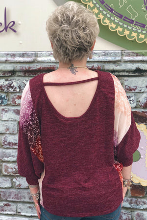 Fabulous in Fall Foliage Open Back Top