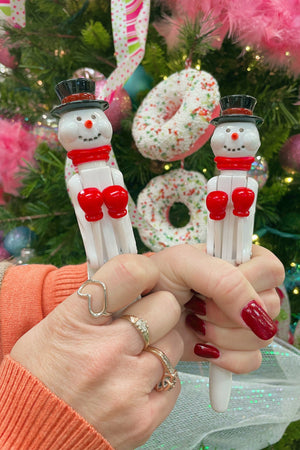 Boxing Snowman Pen
