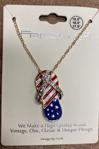 American Flip Flop Necklace