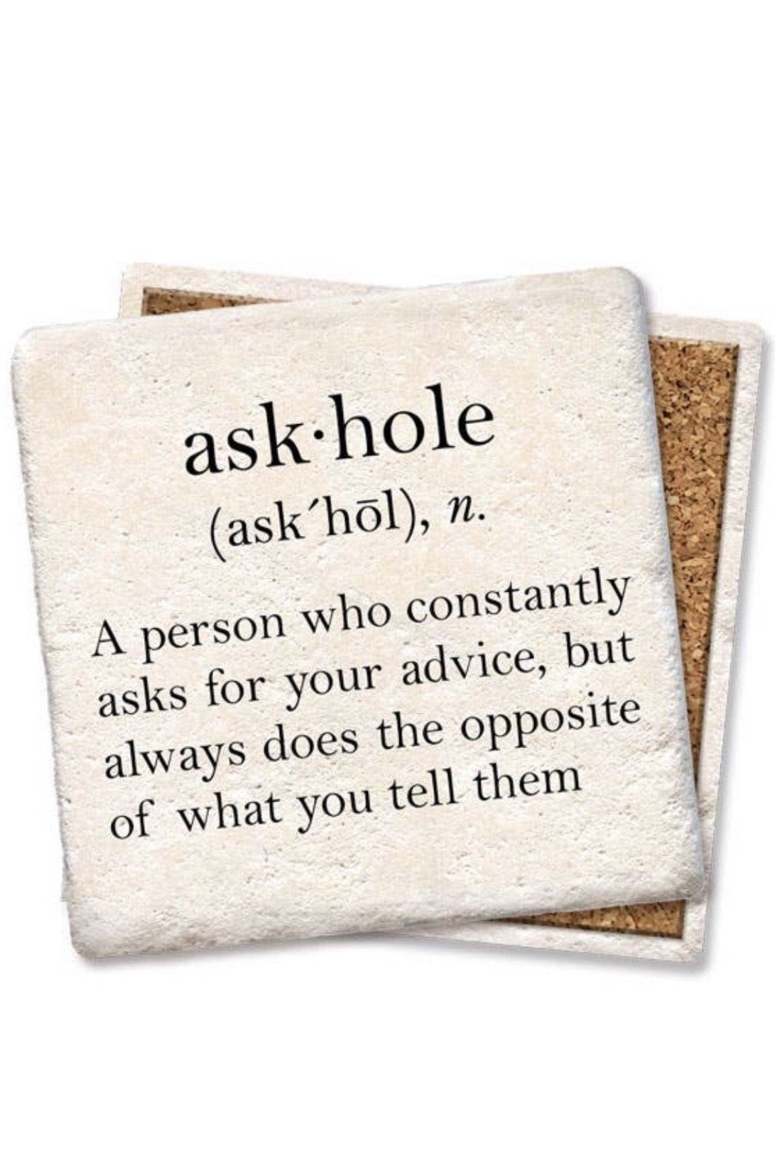 Askhole Coaster GIFT/OTHER K.Lane's Boutique
