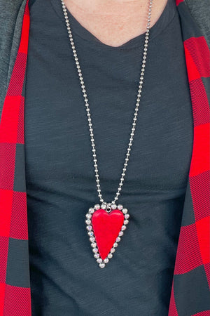 Heart Ball Chain JEWELRY K.Lane's Boutique