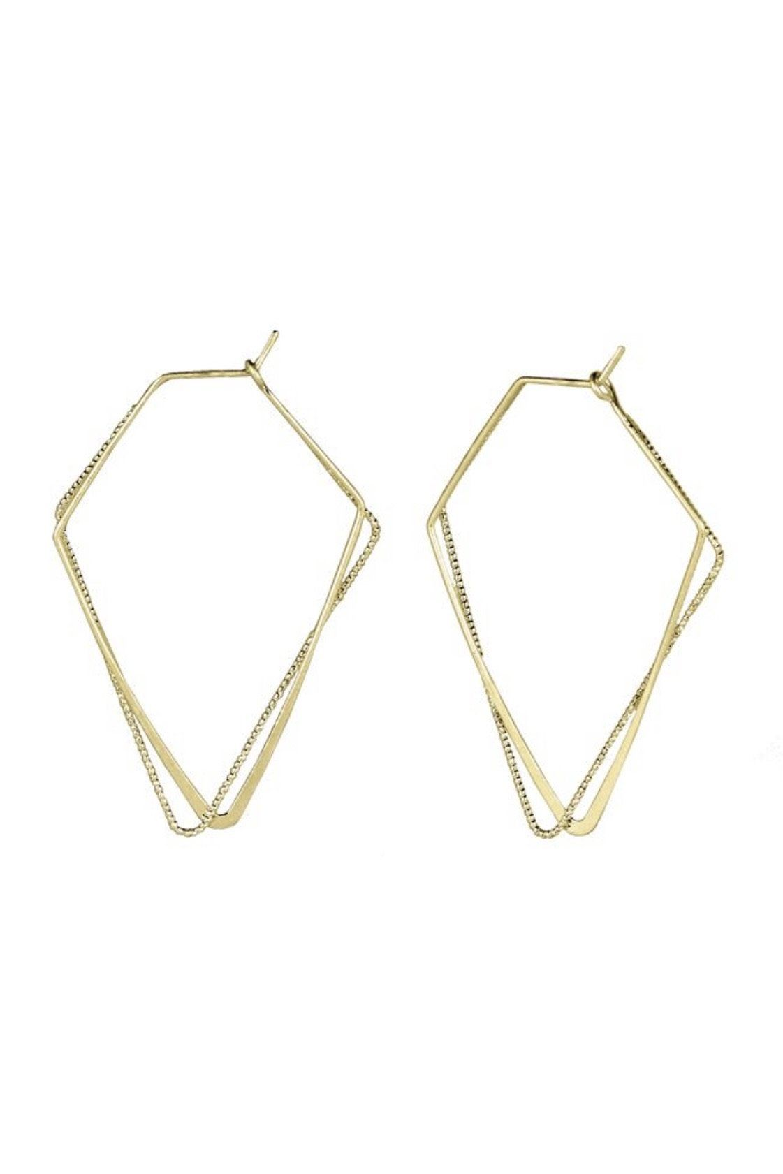 Gold Dainty Triangle Earring