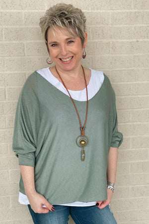 Italy Tunic MISSY TOP SPECIAL K.Lane's Boutique OLIVE OS