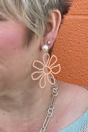 Flower earring JEWELRY K.Lane's Boutique CORAL