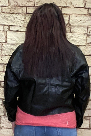 Black Pleather Jacket JACKET K.Lane's Boutique