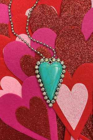 Heart Ball Chain JEWELRY K.Lane's Boutique TURQ