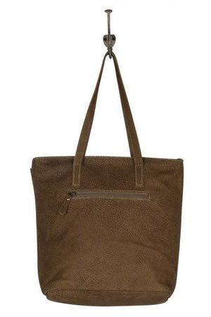Tinges Leather Tote Bag