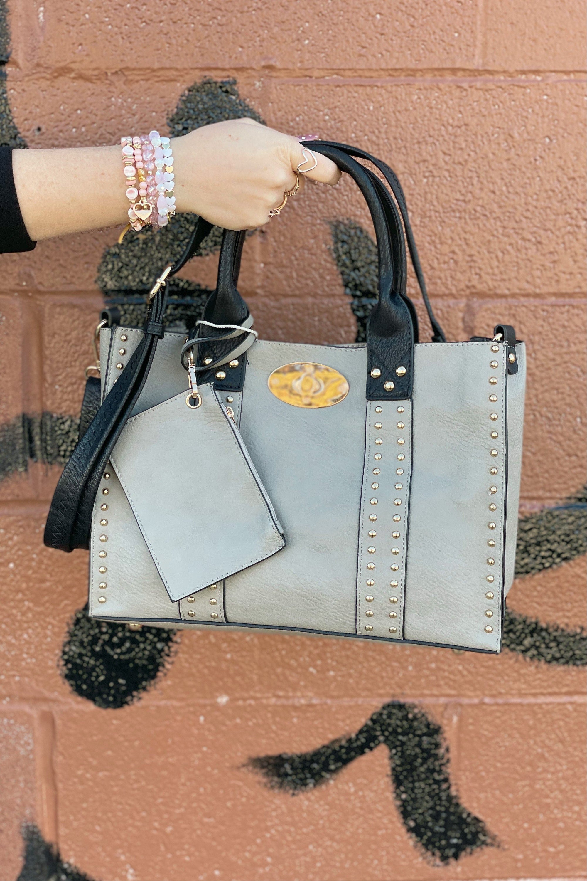 Alyssa Bag HANDBAGS K.Lane's Boutique GREY