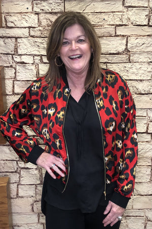 Print Bomber Jacket OUTFIT COMPLETER K.Lane's Boutique
