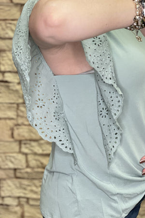 Lace Sleeve JRTOP CASUAL TOP The Paisley Parrot