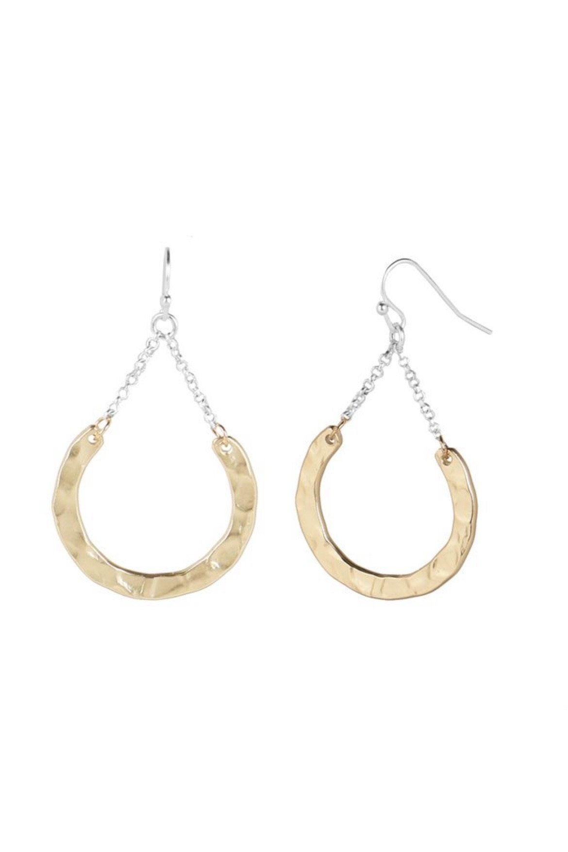 Disc Chain Earring JEWELRY Whispers