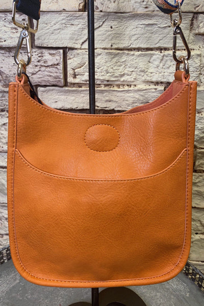 Mini Orange Vegan Messenger w/ Guitar Strap