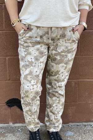Camo Floral Jogger BOTTOMS LIVERPOOL