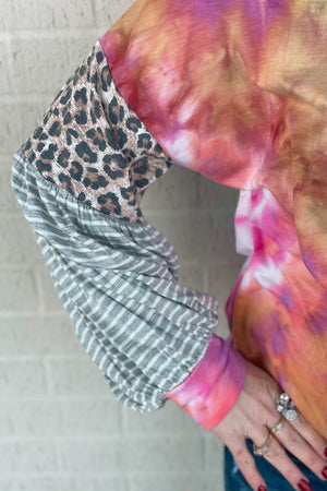 Tie Dye Bubble Sleeve