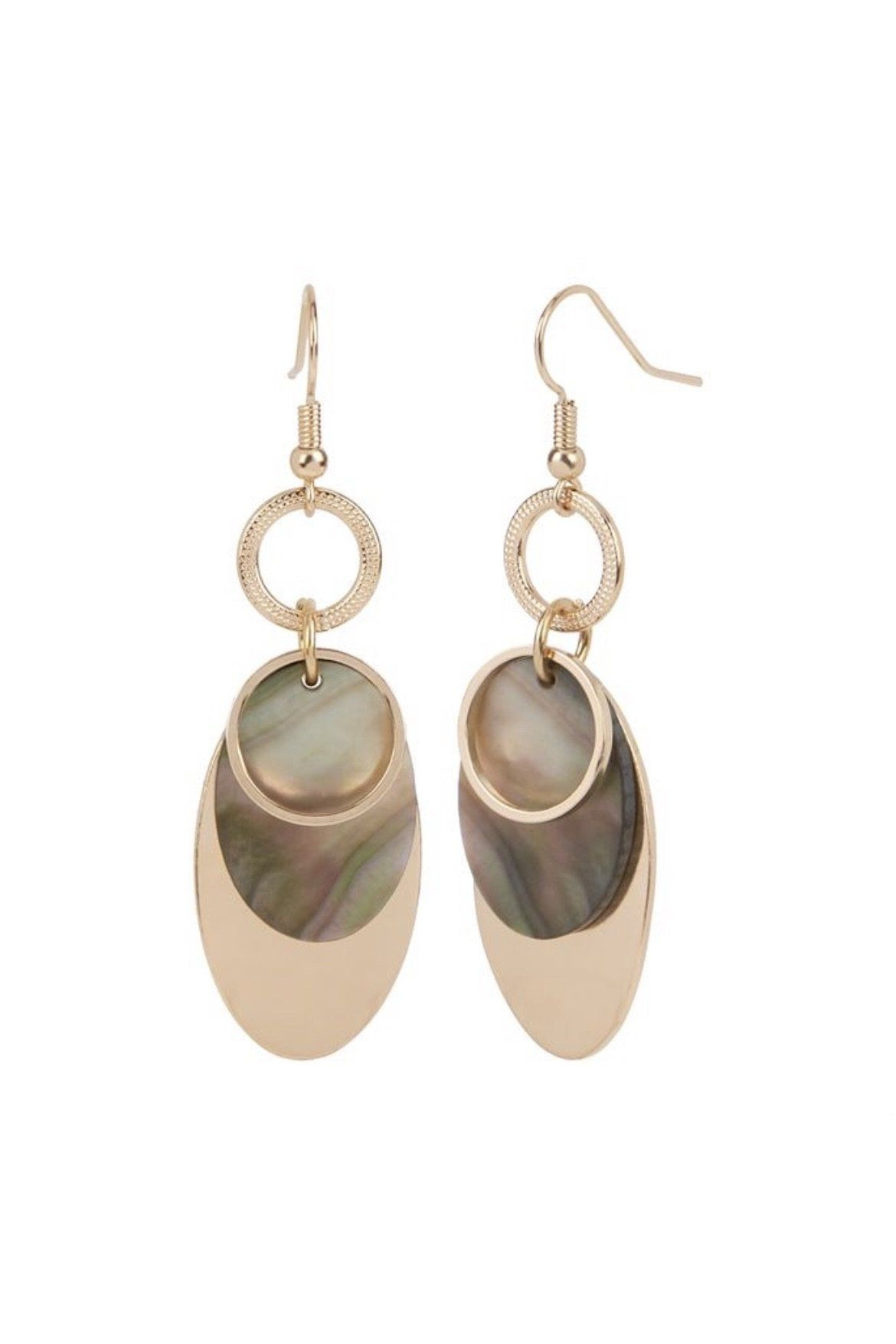 Gold Overlay with Abalone Dangle JEWELRY Whispers