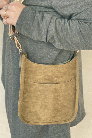 Suede Messenger w/ Aztec Strap HANDBAGS K.Lane's Boutique