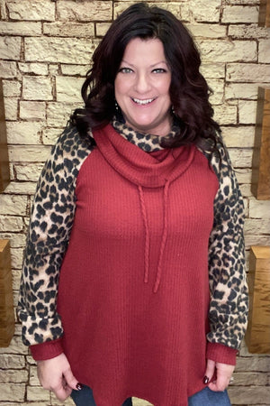 Leopard Cowl Sweater