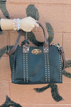 Alyssa Bag HANDBAGS K.Lane's Boutique BLK