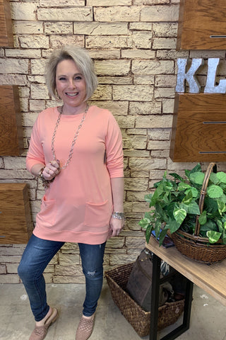 Tunic 3/4 Sleeve Top