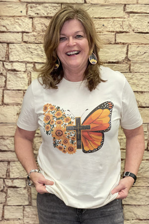 Butterfly Graphic Tee MISSY BASIC KNIT K.Lane's Boutique