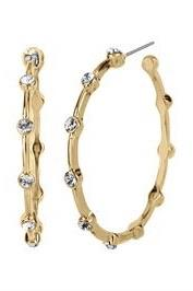 Gold Hoop with Stones JEWELRY K.Lane's Boutique