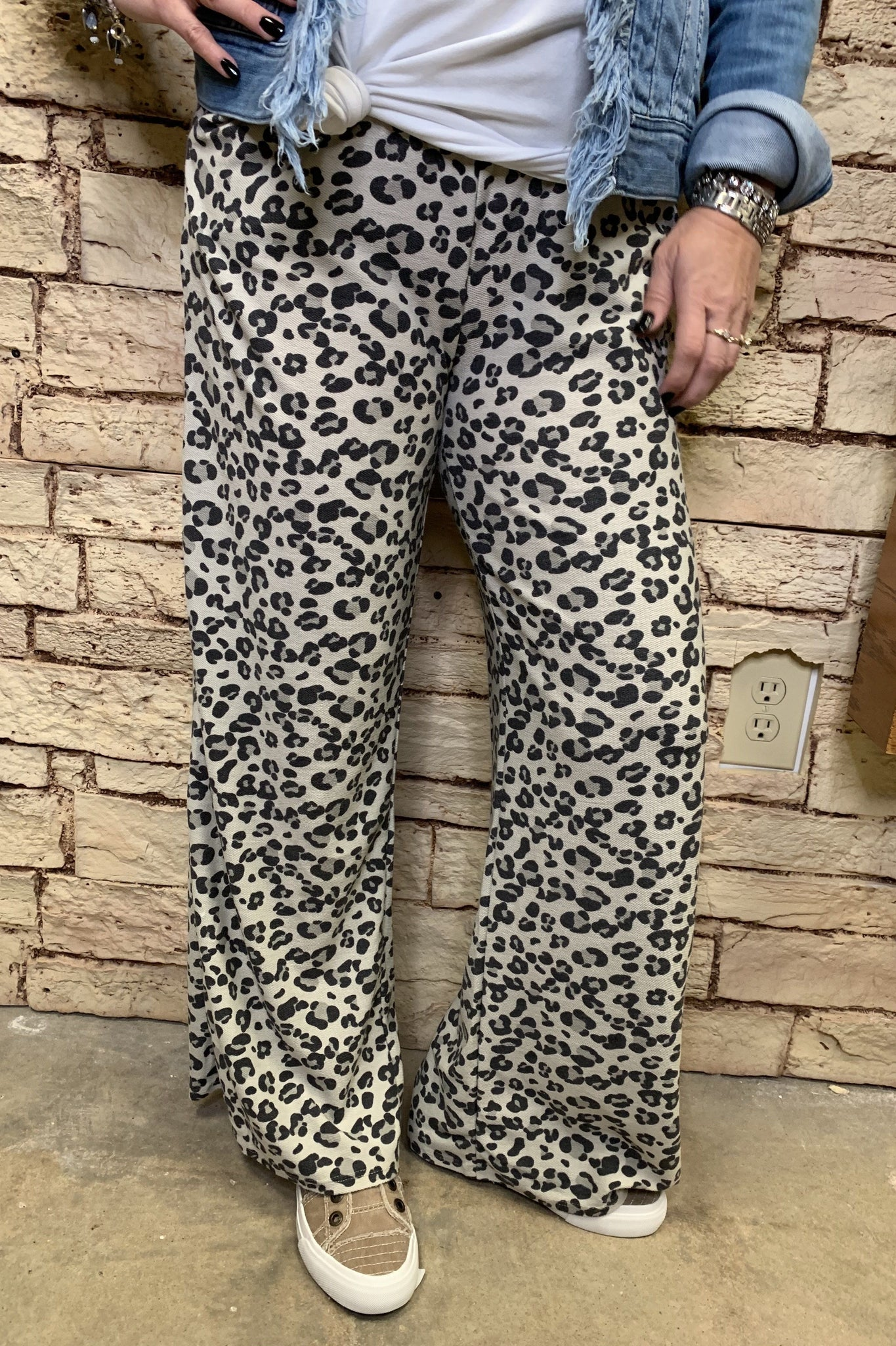 Leopard French Terry Pants