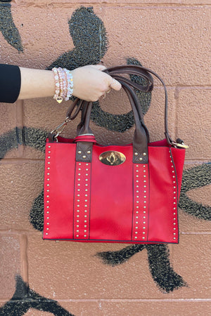 Alyssa Bag HANDBAGS K.Lane's Boutique RED