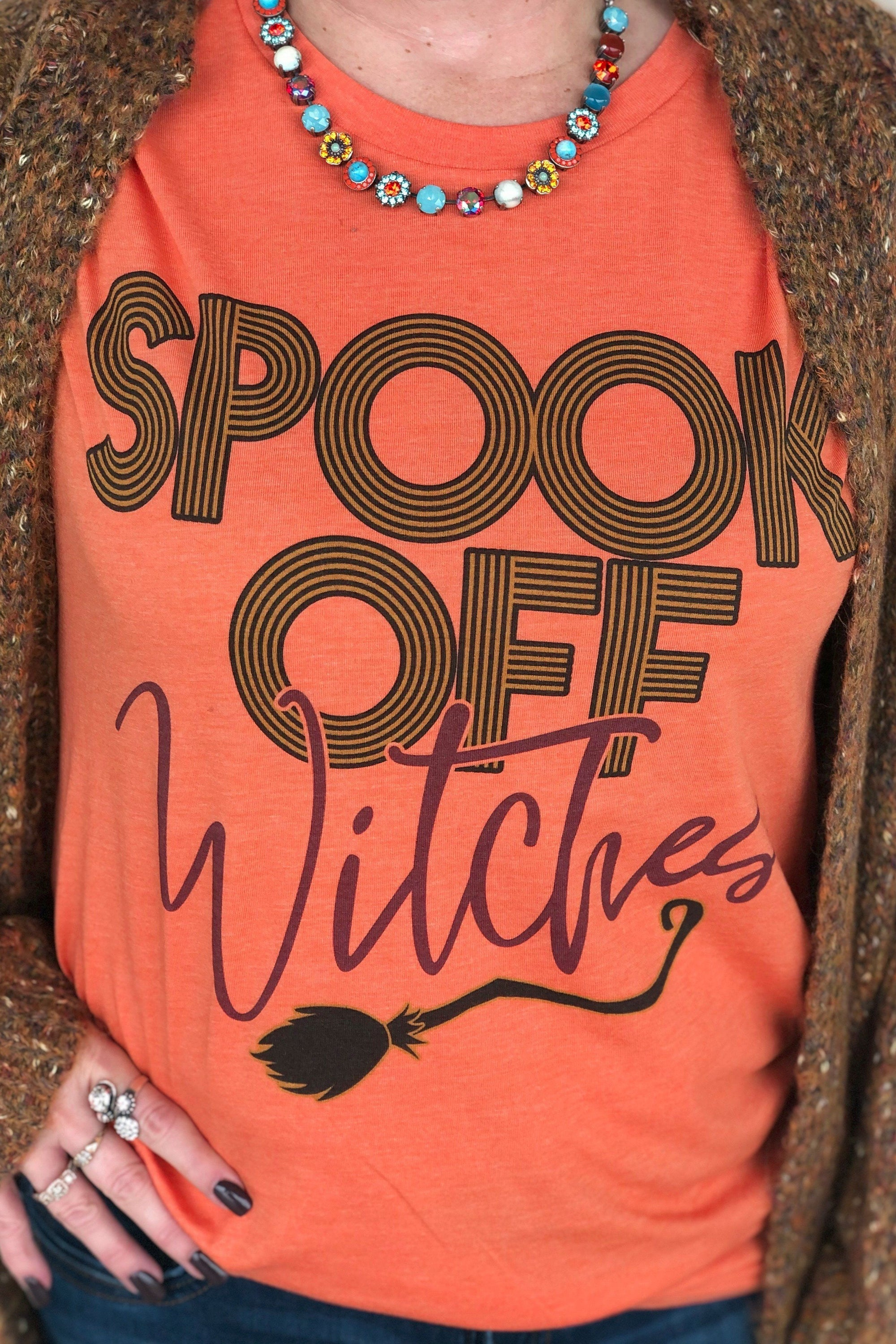 Spook Off Tee MISSY BASIC KNIT K.Lane's Boutique