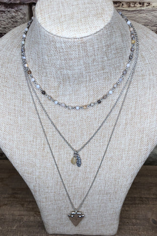 Arrowhead Layered Necklace