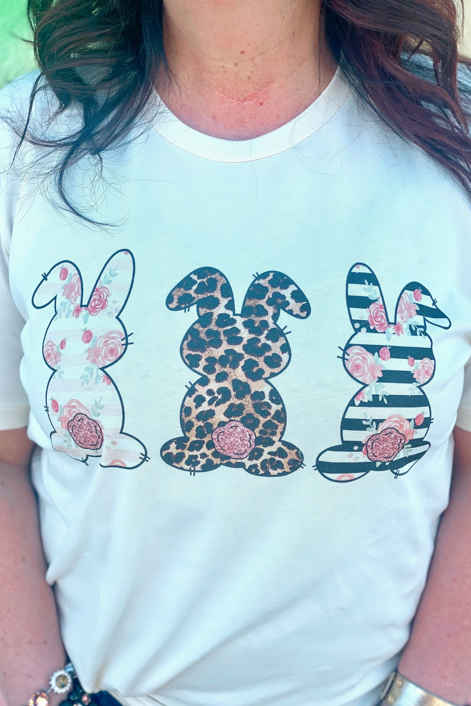 Floral Bunny Tee