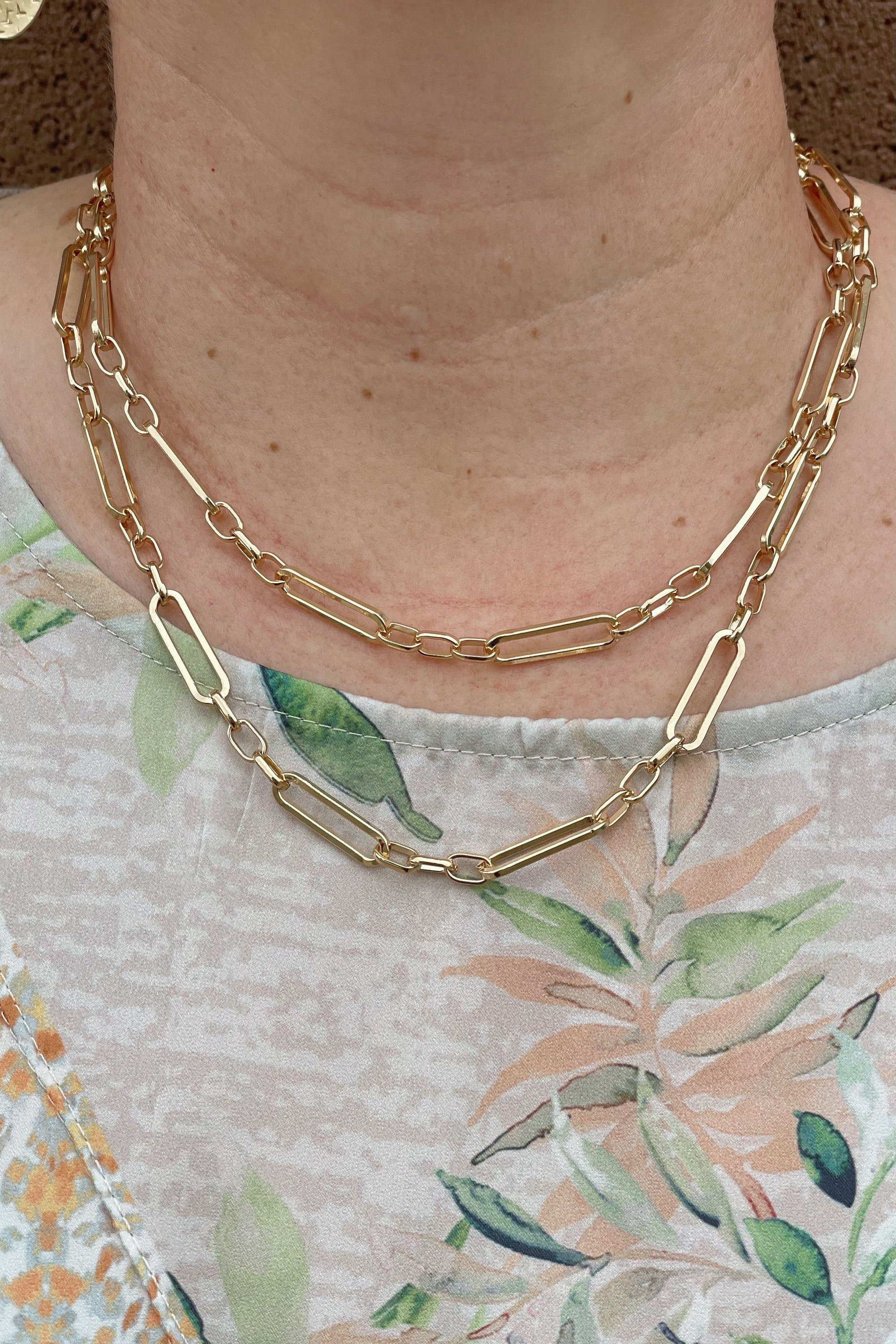 Gold Double Chain JEWELRY K.Lane's Boutique