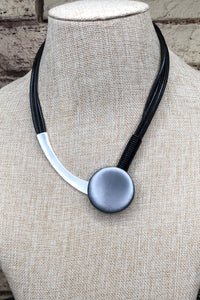 2 Tone Button Necklace