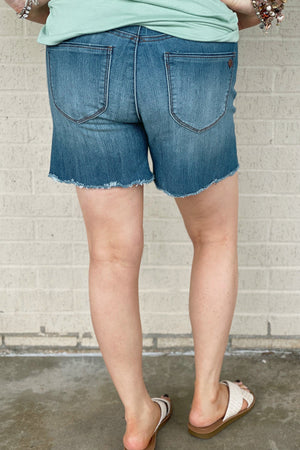 "5"" Scallop Fray Short BOTTOMS DEMOCRACY"