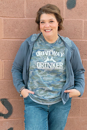 Driveway Drinker Graphic Tee MISSY BASIC KNIT K.Lane's Boutique