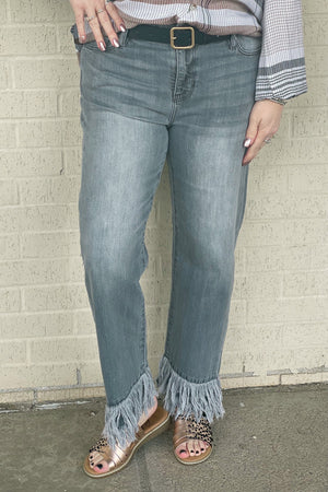Double Fray Hem Jean BOTTOMS LIVERPOOL