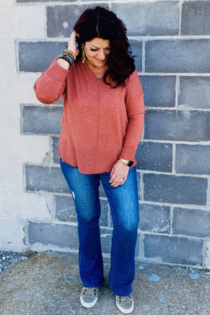 Hoodie Sweater SWEATER K.Lane's Boutique HEATHERSPICE S/M